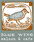 Blue Wing Saloon Logo
